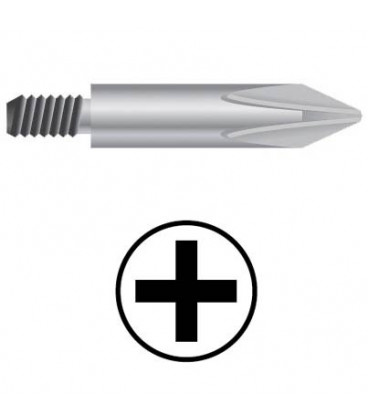 WEKADOR Bit Phillips PH2/80 mm se závitem M5 pr. 6,0 Professional