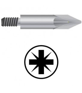 WEKADOR Bit pozidriv PZ1/33 mm se závitem M4 pr. 5,0 Professional