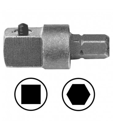 WEKADOR Adaptér 25 mm vnější čtyřhran 1/4 s kolíkem