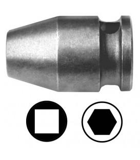 WEKADOR Adaptér 40 mm s vnitřním čtyřhranem 1/2 na šestihran 1/4