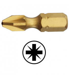 WEKADOR Bit pozidriv PZ3 - 25 mm torzní TIN