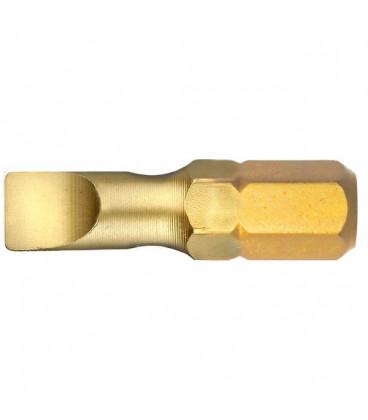WEKADOR Bit plochý torzní 6,5x1,2 - 25 mm TiN