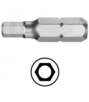 WEKADOR Bit šestihran 2.5 - 25 mm s vývrtem Professional