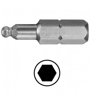WEKADOR Bit šestihran 3 - 38 mm s kulovým zakončením Professional
