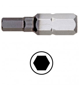WEKADOR Bit šestihran 4 - 25 mm DLC