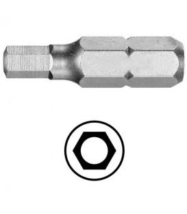 WEKADOR Bit šestihran 4 - 25 mm s vývrtem Professional