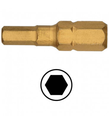 WEKADOR Bit šestihran 4 - 25 mm TIN